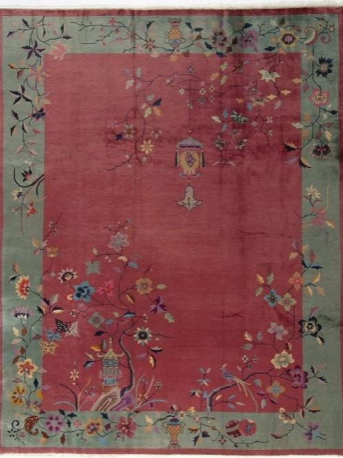 "Pictorial Vintage Art Deco Rug ARI-500591 9' x 11' 4"""