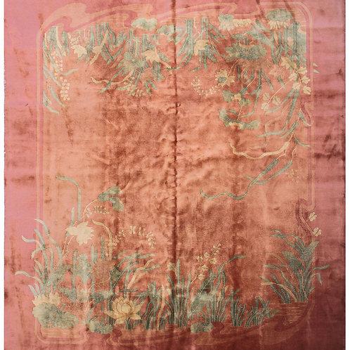 """Salmon Chinese Art Deco Rug ARI-3325 8' 9"""" x 11' 3"""""""
