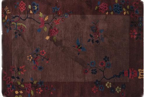 "Brown Floral Chinese Art Deco Rug Ari-3365 2' 11"" x 4' 8"""