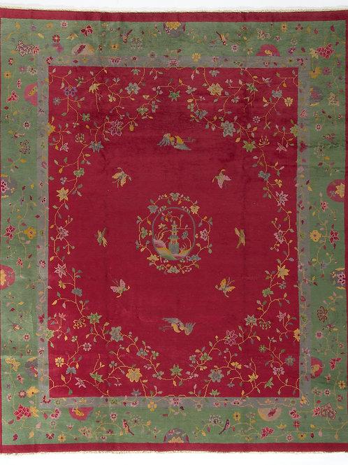 "Red Pictorial Antique Chinese Art Deco Rug ARI-500555 7' 11"" x 9' 7"""
