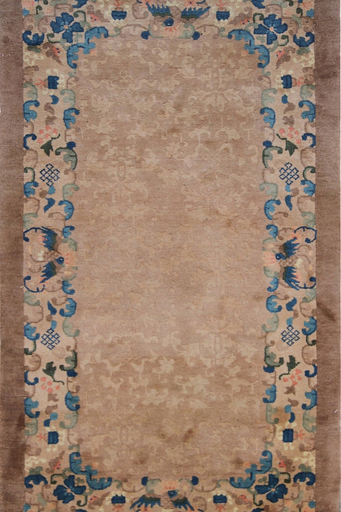 "Floral Brown Chinese Art Deco Rug ARI-4176 3' 1"" x 5' 11"""