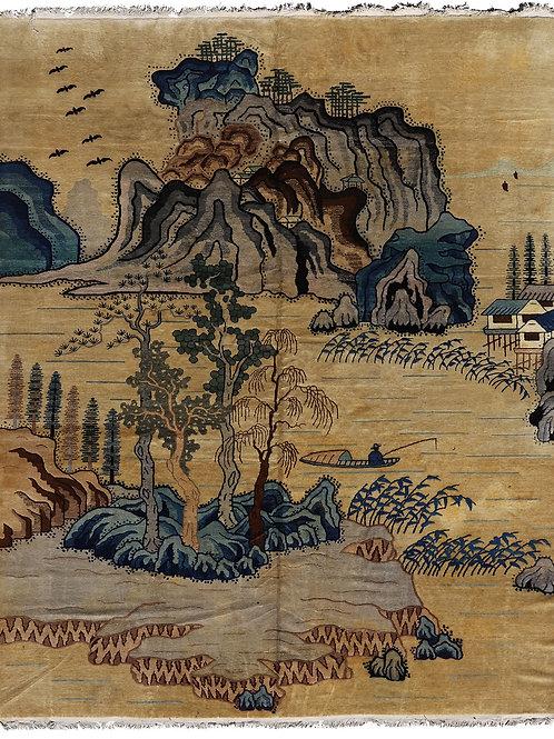 9x12 Chinese Pictorial Art Deco Rug ARI-5348