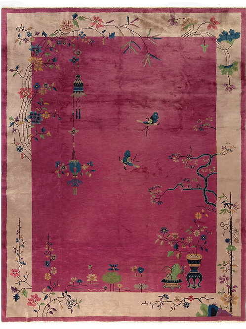 "Burgundy Chinese Art Deco Rug ARI-500550 9' 10"" x 15' 1"""