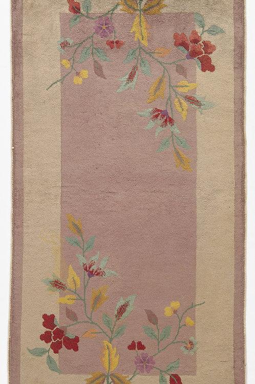 """Cream Floral Vintage Art Deco Rug ARI-500722 2' 6"""" x 4' 10"""""""