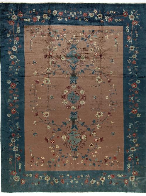 "Floral Vintage Art Deco Rug ARI-500563 9' 10"" x 12' 9"""