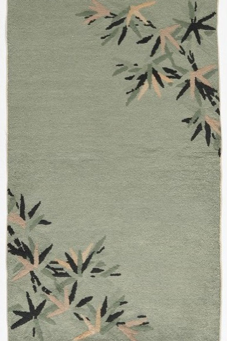 "Green Floral Antique Chinese Art Deco Rug ARI-500685 3' 12"" x 6' 9"""