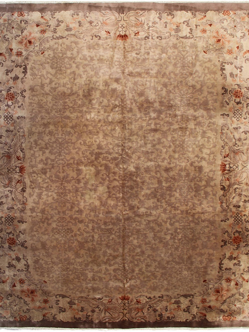 "Brown Chinese Art Deco Rug ARI-4241 8' 9"" x 11' 3"""