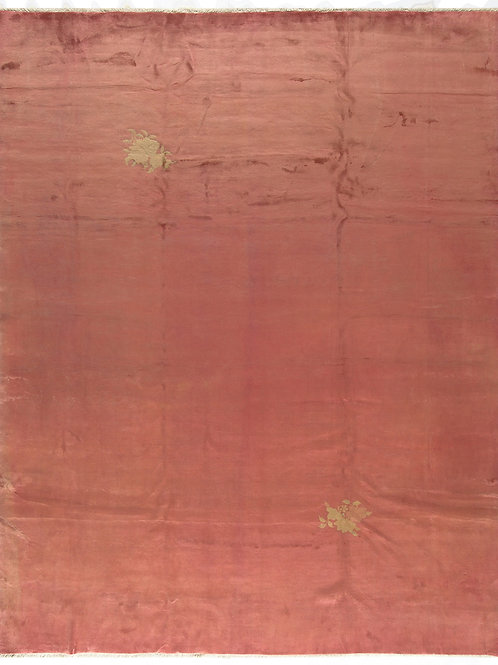"Salmon Chinese Art Deco ARI-500556 9"" x 11' 4"""