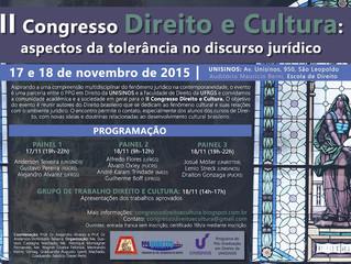 Lepif apresenta pesquisa no II Congresso de Direito e Cultura, na UNISINOS