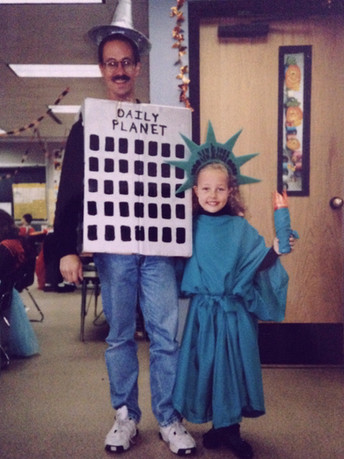 """For some reason, IMDB has credited me as """"Community Building"""" for the show Blue Bloods. Coincidentally, in 4th grade my dad and I dressed as buildings for Halloween! Put that dream out into the universe and it came back in the form of IMDB."""