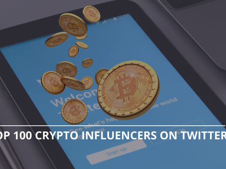The Top 100 Crypto Influencers On Twitter By Crowdsense.ai (End Of Q3 2021)