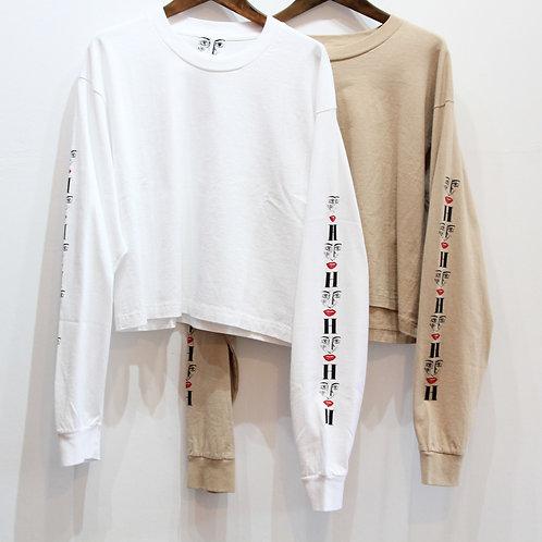 H(アッシュ) L/S LOGO T-shirt