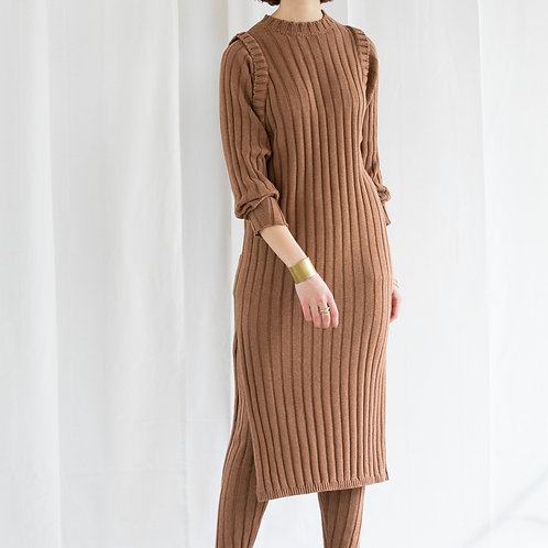 KiiRA WIDE RIB KNIT OP