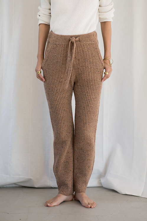 KiiRA NEP TWEED KNIT PANTS