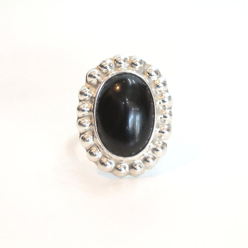 Onyx silver ring from Mexico