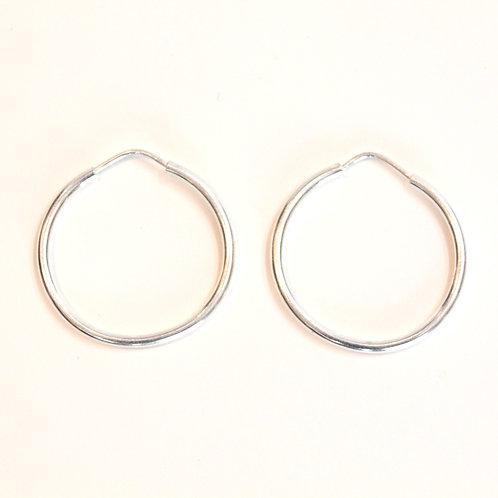 Silver hoop earrings  from Mexico