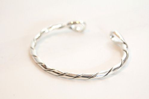 twist thin silver bangle from Mexico