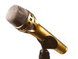 Mikrophon, Mikro, Mik, Gold