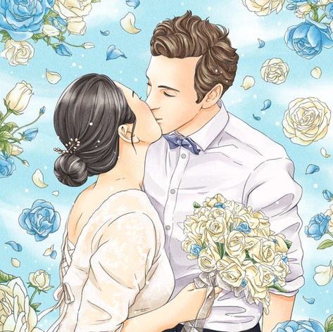 Photoshop artwork project3 - My wedding photo