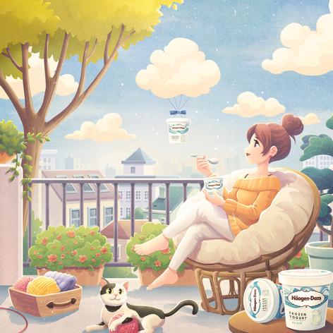 Haggen-Daz promotional illustration1