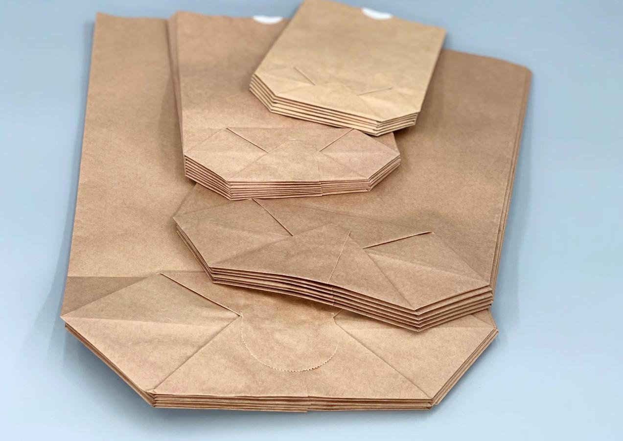 Papier-Kreuzbodenbeutel