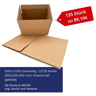 Kartonagen Angebot Fefco 0201 einwellig