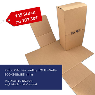 Kartonagen Angebot Fefco 0401 einwellig B-Welle
