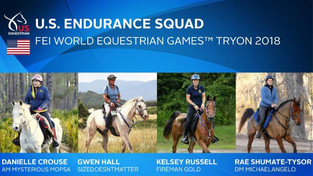 US Equestrian Names U.S. Endurance Squad for FEI World Equestrian Games Tryon 2018