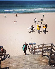 école de surf la garluche à Mimizan dans les Landes