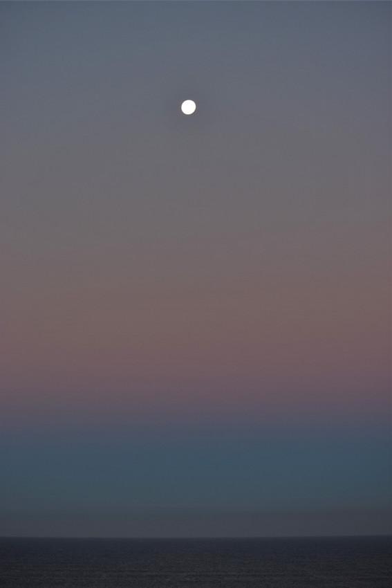 Lune au petit matin
