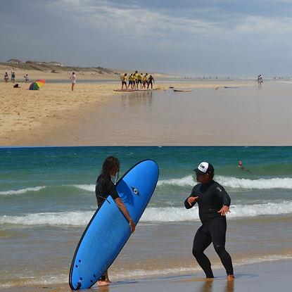 la garluche mimizan école de surf surf school
