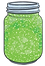 Green-Glitter-in-Jar----Craft-Decoration