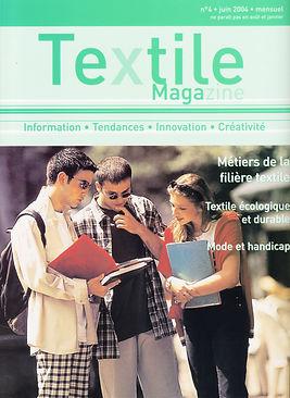 couverture Article Textille magazine jui