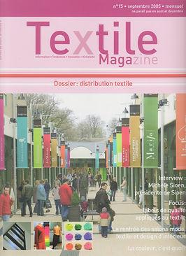 couverture Article Textille magazine sep