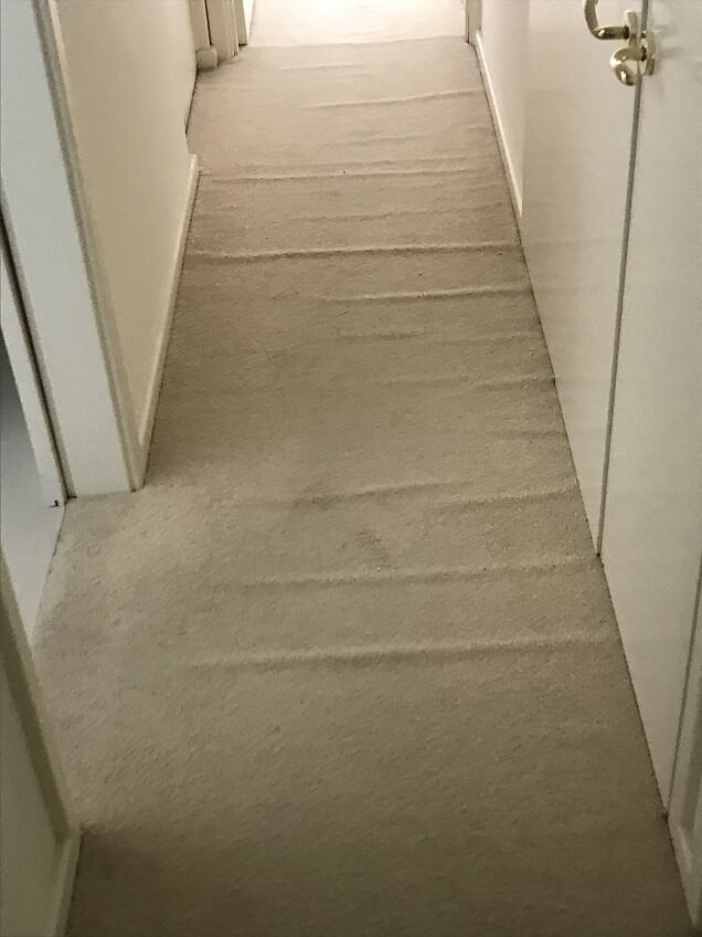 carpet in Passage badly Rippled