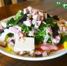 宮古産かつおフレークのサラダ仕立て-紅芋甘糀ドレッシング