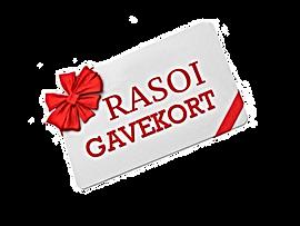 Rasoi gavekort.pngKøb gavekort til Rasoi