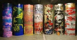 Gang of Totems - Totems carton - Aérosol, acrylique, pigments - 2018.png