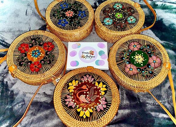 Brown Hand Painted Batik Sling