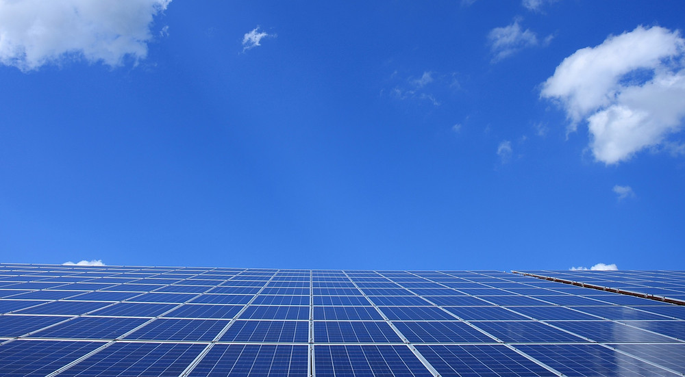 Solar Panels in front of blue sky