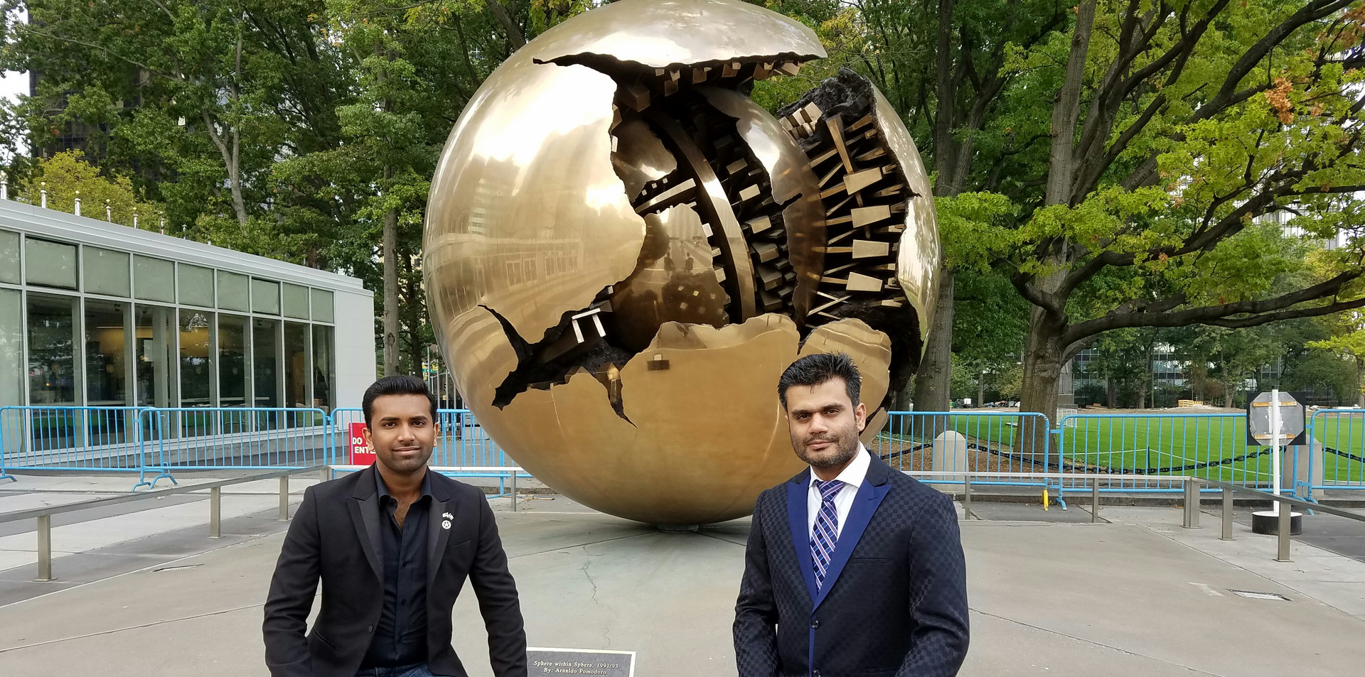 at the UN with Adnan Khawaja