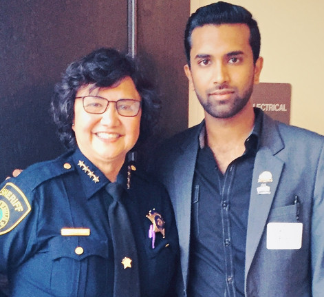 with Sheriff Lupe Valdez