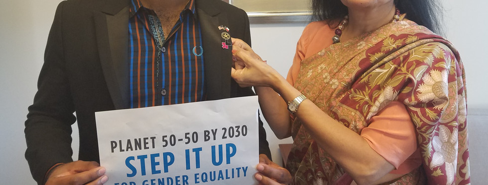 with Asst. Secretary General Laxmi Puri