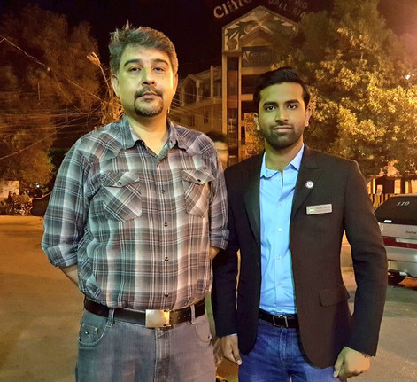 with Minister of Technology Mr. Abidi