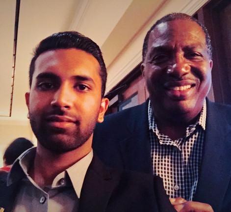 with Senator Roye West