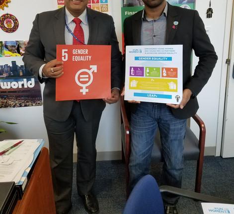 with Ravi Karakara (UN Women)