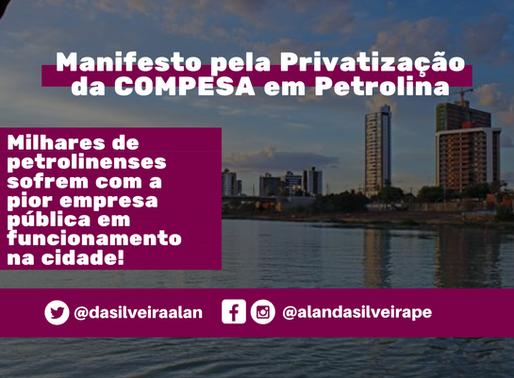 Manifesto pela Privatização da COMPESA e o desserviço da pior empresa pública em Petrolina