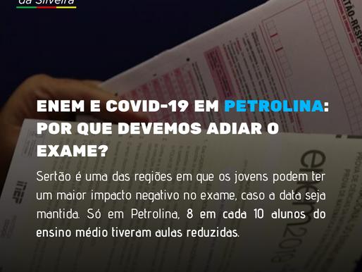 8 em cada 10 alunos do ensino médio de Petrolina serão prejudicados caso o ENEM não seja adiado