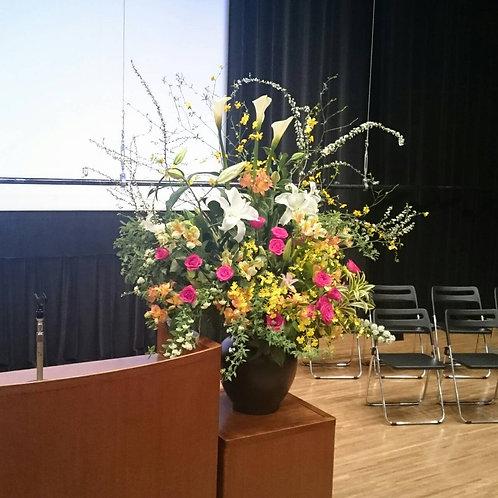 ステージのツボ花のお