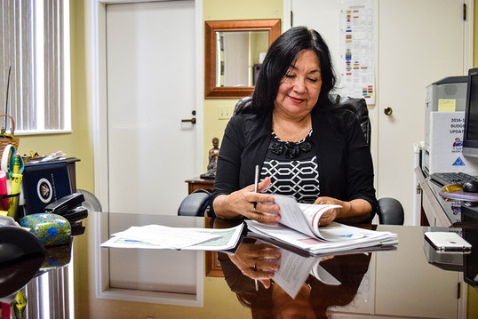 """In response to executive threats to DACA, Ravenswood School District declared itself a haven and worked with community partners to provide residents with services and support. """"Our goal is to make school a place where you can come, you can be safe, you can be taken care of,"""" Ravenswood Supt. Gloria Hernandez-Goff says."""